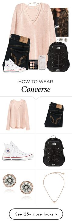 """It's such a rainy day today ☔"" by kaye-376 on Polyvore featuring Victoria's Secret, Hollister Co., Converse, Icz Stonez, Kendra Scott, The North Face, MAC Cosmetics and Harper & Blake"