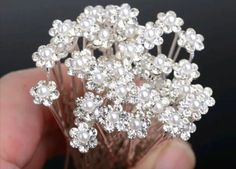 Bridal Hair Pins Rhinestone Flower Hair by TheTinyMustardSeed