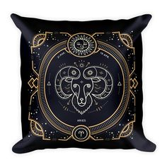 Aries Zodiac Couch Decor Stuffed Washable Removable Cover With Hidden Zipper. Soft Pillows, Decorative Pillows, Throw Pillows, Aquarius Zodiac, Sagittarius, Louis Vuitton Monogram, Cancer, Things To Come, Pattern