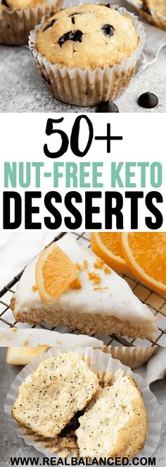 keto-friendly, low-carb, and nut-free dessert recipes! keto-friendly, low-carb, and nut-free dessert recipes! This list for those with nut allergies who want to safely enjoy a tasty low-carb dessert! Paleo Dessert, Dessert Ricotta, Dessert Recipes, Dinner Recipes, Breakfast Recipes, Breakfast Gravy, Breakfast Muffins, Lunch Recipes, Soup Recipes