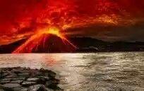 Amazing Sky Over Volcanic Eruption Hd Desktop Background wallpaper