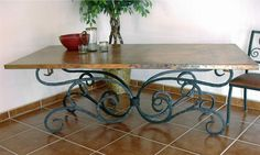 dining+room+tables+along+with+wrought+iron+base | wrought iron table is a durable and yet stylish piece of furniture ...