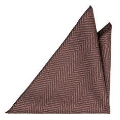 Lommetørkle - Tykt, store fiskebensmønster, grå og rødlig brun.