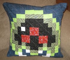 Baby Metroid Quilted Pillow Cover by raindrops23 on Etsy, $45.00