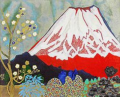 'Auspicious Mt. Fuji' lithograph by Tamako KATAOKA - Japanese Painting Gallery
