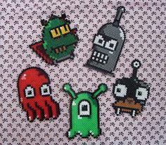 Futurama characters perler beads