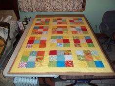 Handmade Spring Floral Lap Quilt Sharon's by sunshineofautumn, $130.00