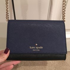 Kate Spade Cedar Street Purse Kate Spade cross body bag. Perfect condition and beautiful bag! It was a new gift but doesn't fit my iPhone 6 Plus 😢 Sell or trade for other Kate Spade items only. kate spade Bags Crossbody Bags
