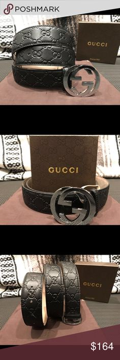 0e8876a8a20 Authentic Men s Black GG Guccissima Gucci Belt You are looking at a Brand  New Never Opened