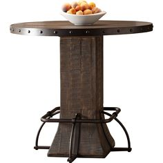 Hillsdale Furniture Jennings Walnut (Brown) Round Counter Height Dining Table (Jennings Round Counter Height Table in Walnut)