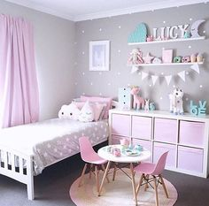 Bedroom design ideas for girls fantastic little girl bedroom decor fancy little girls bedroom ideas girl . bedroom design ideas for girls Teenage Girl Bedrooms, Teen Bedroom, Diy Bedroom, Modern Bedroom, Bedroom Vintage, 4 Year Old Girl Bedroom, Bedroom Shelves, Childrens Bedrooms Girls, Vintage Room