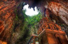 The Batu Caves near Kuala Lumpur in Malaysia