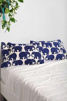 Magical Thinking Elephant Print Pillowcase - Set Of 2 - Urban Outfitters Elephant Love, Elephant Art, Elephant Stuff, Elephant Bedding, Elephant Icon, African Elephant, Duvet Covers Urban Outfitters, Magical Thinking, Boho Bedding