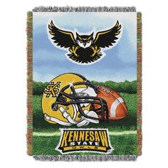 Throw Blankets Kennesaw State Owls NCAA 48X60