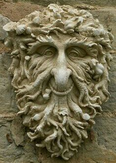 Garden Ornaments - Green Man Garden Ornaments Buy Green Man Garden Ornament Toad We have a stunning collection of hand crafted Green Man wall decorations. Create a unique garden feature with one of our designs. Green Man, Sculptures Céramiques, Lion Sculpture, Abstract Sculpture, Bronze Sculpture, Cultures Du Monde, Tree Faces, Nature Spirits, Garden Ornaments