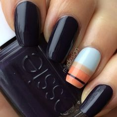 .@HB Beauty Bar | Perfectly Blue Nails by @mllrdesign Polish: Essie 'Under The Twilight' | Webstagram