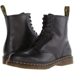 Dr. Martens 1460 Lace-up Boots (5,840 PHP) ❤ liked on Polyvore featuring shoes, boots, ankle booties, ankle boots, leather booties, leather bootie, bootie, short boots and lace up bootie