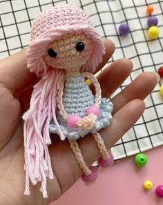 Crochet Doll Pattern, Crochet Patterns Amigurumi, Amigurumi Doll, Knitted Dolls, Crochet Dolls, Diy Crochet, Crochet Baby, Sewing Stuffed Animals, Fairy Dolls
