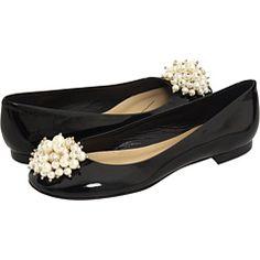 Kate Spade, #flats #black #pearls