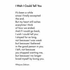Words left unsaid..