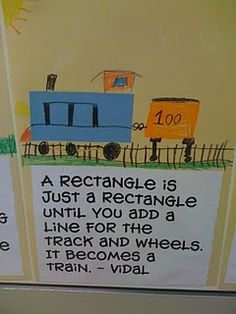 Give each student a shape and have them create a picture using the shape.