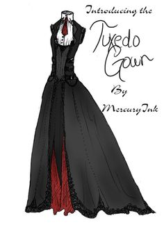 983ffc2e3ba42 Tuxedo Gown by ~MercuryInk on deviantART Lesbian Wedding, Wedding Men,  Wedding Gowns,