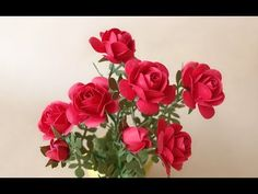 This miniature roses are perfect for dollhouse projects or gifts, use simple techniques and mainly feature petals punched with common craft punches,so creati. Crepe Paper Flowers Tutorial, Paper Flowers Craft, Paper Roses, Paper Crafts, Rose Crafts, Flower Crafts, Rose Tutorial, Craft Punches, Rose Decor