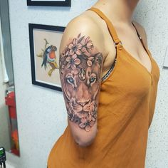 "141 Likes, 5 Comments - @jamie_adair on Instagram: ""Lioness on Robyn, nice meaning behind it :) #lionesstattoo #tattoo #shadowlinesumi"""