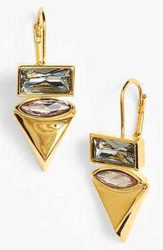 Women's Vince Camuto 'Blush Factor' Drop Earrings Gold/ Blush/ Black Diamond One Size