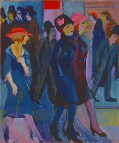 Ernst Ludwig Kirchner, Street Scene (Strassenszene) on ArtStack #ernst-ludwig-kirchner #art