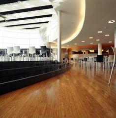 La línea de pisos Moso HunterDouglas® se caracteriza por tener productos innovadores y ecológicos hechos a partir del bambú. Moso Bamboo, Hunter Douglas, Solid Surface, Interior Exterior, Stairs, Flooring, Table, Furniture, Supreme