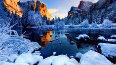 Beautiful Snow Mountain Shore Ice Frozen Lake Cliffs Landscape Winter River Cold Peaks Sky Rocks Glow Frost 3d Wallpaper Download