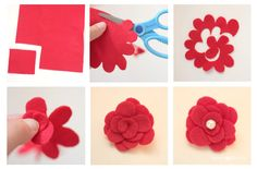 Repeat Crafter Me: How To Make a Felt Flower