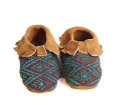 Suede and Huipel Baby Moccasins – Humble Hilo