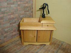 Dollhouse Miniature 1:12 Furniture & Room Items  Wet Sink Kitchen Prop #D2678A #TownSquareMiniatures
