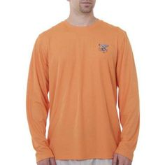 Spiderwire Men's LS Performance Screen Print Fishing Tee, Size: Medium, Orange