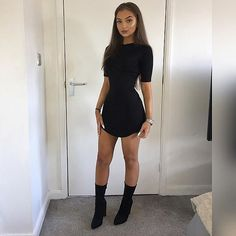 "1,597 Likes, 8 Comments - www.WearAll.com (@wearall) on Instagram: ""Bod outta control  @olivia.claudia 'KYLIE Curved Hem Bodycon Dress' £12 Shop link in bio …"""
