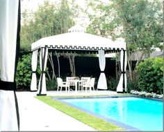 Katie Stassi's tent come pool house