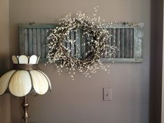 Rustic Shutter Wreath Wall Decor by RusticGoodies88 on Etsy, $100.00
