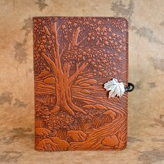 Creekbed Maple Moleskine Leather Journal Covers with Pewter Clasp by Oberon design.