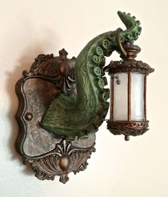 Tentacle Lantern Wall Plaque with LED Light by Dellamorteco