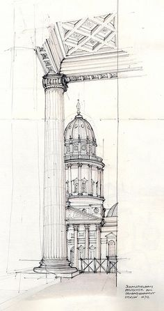 #UrbanArchitectureSketch pen and ink, by by flaf