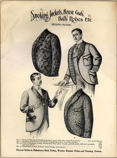 Vintage smoking jacket poster