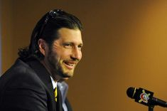 """After eight organizations, 14 professional seasons and several potholes and detours along the way, Jason Grilli`s long journey took him back to where he said he always wanted to be. """"I`m pretty ecstatic,"""" the 36-year-old right-hander said Wednesday at PNC Park after the Pirates officially announced his return to the After Eight, Pnc Park, Organizations, Along The Way, Pirates, Wednesday, Journey, Seasons, Pretty"""
