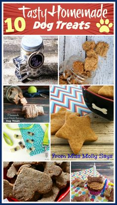 We all love our kids- and love to make them special treats.  That goes for our furry kids too! We always post recipes for our kids on Mom Does Reviews, but my blogger friend Diane from Miss Molly Says only posts Dog Treat Recipes on her blog. Here are 10...