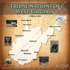 Tribal Nations of West Virginia Map Native American Map, American Indian Wars, American Indians, West Virginia History, Social Studies Worksheets, North America Map, Historical Maps, Nativity, Native Americans