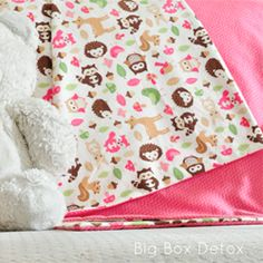 Step by step instructions on sewing a super cute flannel baby blanket.