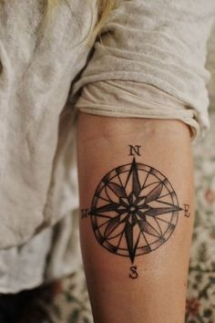 Piccsy :: Tattoos NESW. Compass Tattoo. Lovely. on imgfave