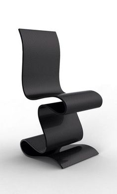 SCULPTURE is a beautiful carbon fiber chair by Paris based designer team Ventury Lab, an imposing creation that looks like modern sculpture. Funky Furniture, Unique Furniture, Contemporary Furniture, Luxury Furniture, Furniture Design, White Furniture, Furniture Removal, Furniture Chairs, Furniture Stores