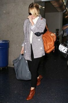 Obsessed with that jacket. Emma Stone.